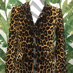 Lucky Brand Leopard Blazer